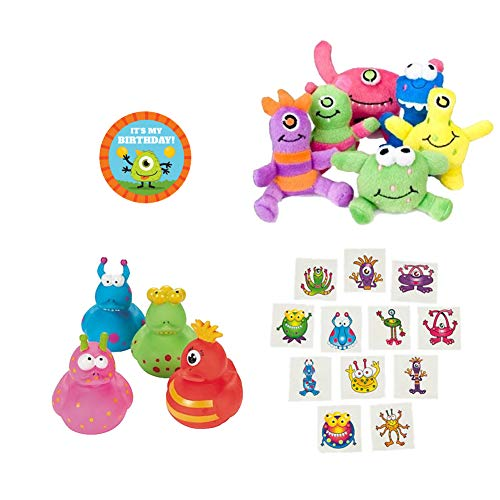 Little Monster Birthday Party Supplies, Favor Kit for 12 Guests -