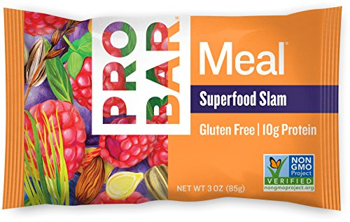 PROBAR - Meal Bar - Superfood Slam - Organic Oats, Nuts, Seeds, Gluten Free, Non-GMO Project Verified, Plant-Based Whole Food Ingredients, 10g Protein, 6g Fiber - Pack of 12 (Whole Food Meal)