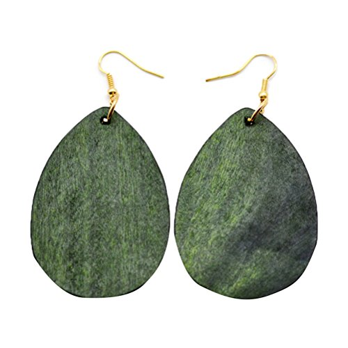 Museya Women's Teardrop Shape Earrings Wodden Earrings Dangle