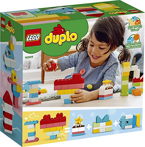 51zx9YGmvnL - LEGO DUPLO Classic Heart Box 10909 First Building Playset and Learning Toy for Toddlers, Great Preschooler's Developmental Toy, New 2020 (80 Pieces)