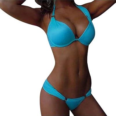 69cc4efb821 IEason Womens Padded Push-up Bra Bikini Set Swimsuit Bathing Suit Swimwear  Beachwear