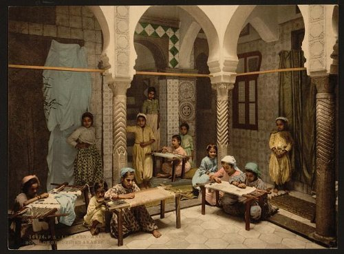 [Photo: Luce Ben Aben,School of Arab Embroidery,Algiers,Algeria] (Arab Embroidery)
