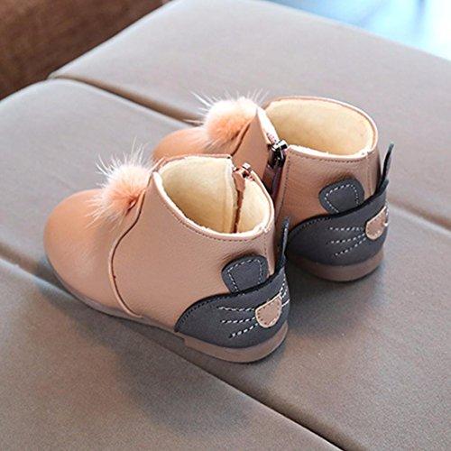 SYY Niedlich 0-6 Jahre alt Kinder Mädchen Mode Martin Cat Solid Sneaker Baby Freizeitschuhe Stiefel Khaki