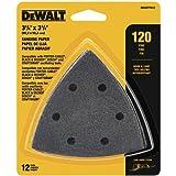 DEWALT DWASPTRI12 Hook and Loop Triangle 120 Grit Sandpaper, 12-Pack