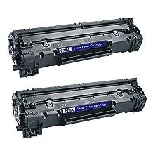 2 Pack 78A Black Laserjet Toner Cartridge Compatible for HP CE278A P1606DN