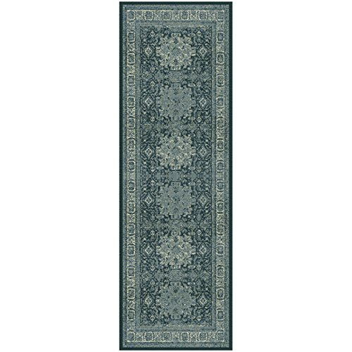 Superior Tatum Collection Area Rug, 10mm Pile Height with Jute Backing, Fashionable and Affordable Rugs, Vintage Oriental Kazak Rug Design - 2'7