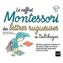 Coffret Montessori des lettres rugueuses de Balthazar