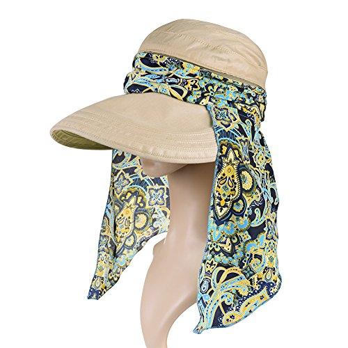 f0f32af6f88 VBIGER Visor Hats Wide Brim Cap UV Protection Summer Sun Hats for Women