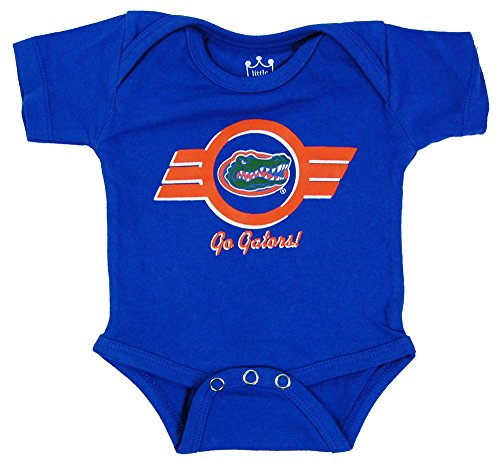 Little King NCAA Florida Gators Diaper Shirt Romper, 12 months, Royal