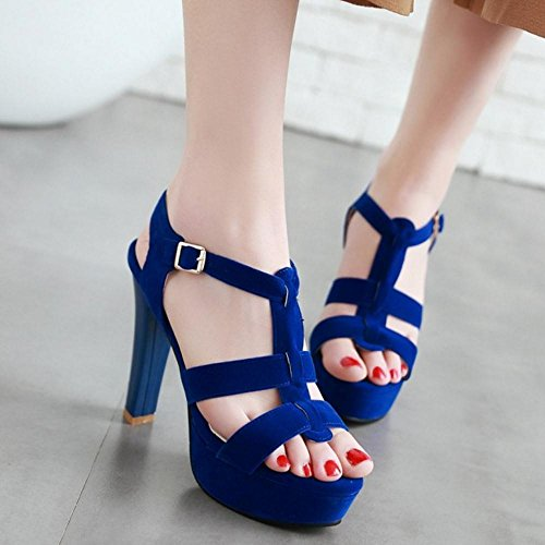 Blue Laniere Femmes AicciAizzi Sandales en T Ete v6fScnWS1