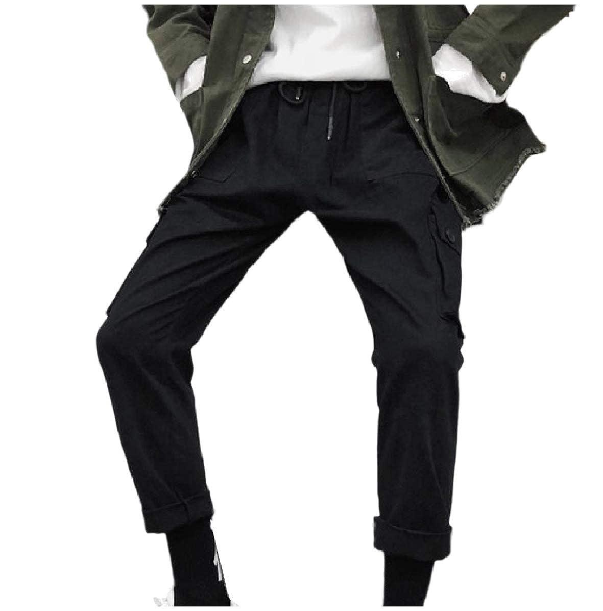 Zimaes-Men Straight Leg Comfortable Multi-Pockets Workwear Ranger Pant