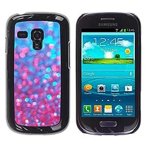 Cubierta protectora del caso de Shell Plástico || Samsung Galaxy S3 MINI NOT REGULAR! I8190 I8190N || Red Purple Sparkling Bling @XPTECH