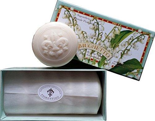 1.76 Ounce Soap - Saponificio Artigianale Fiorentino Mughetto Lily of the Valley Guest Gift Soap 6 - 1.76 Oz Bars From Italy