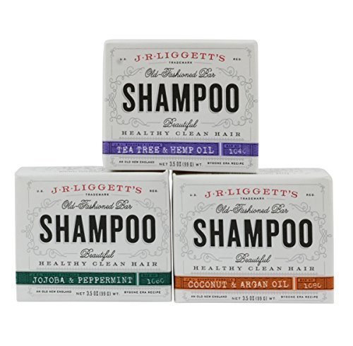J.R. Liggett's Old Fashioned Shampoo Bar 3.5 Ounces (Variety 3 Pack) (Best Coconut Oil Nz)