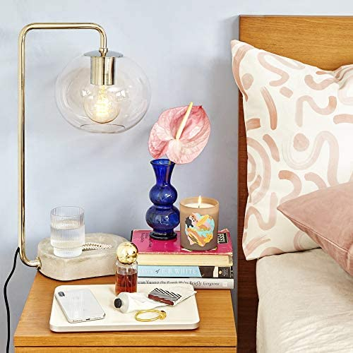 Best tiffany style lamp: Mitzi HL280201-AGB Margot Table Lamp