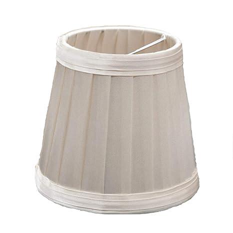 Gaddrt - Pantalla para lámpara de mesa (110 mm, plisada ...
