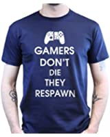 Keep Calm Gamers Don't Die They Respawn Gaming Gamer zocken T-shirt