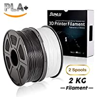 3D Printer Filament PLA Plus,PLA Plus Filament 1.75 mm SUNLU,Low Odor Dimensional Accuracy +/- 0.02 mm,2.2 LBS (1KG) from SUNLU