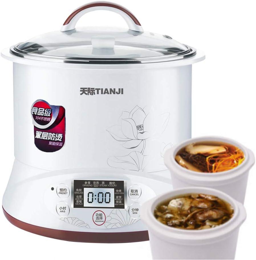 TIANJI Smart 3 Ceramic Pot Electric Stew Pot DGD22-22EG 3-in-1 2.2L+2x0.65L