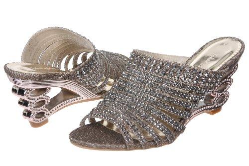 JohnFashion Or Sandales Fashion John Femme Pour YqU5qaw