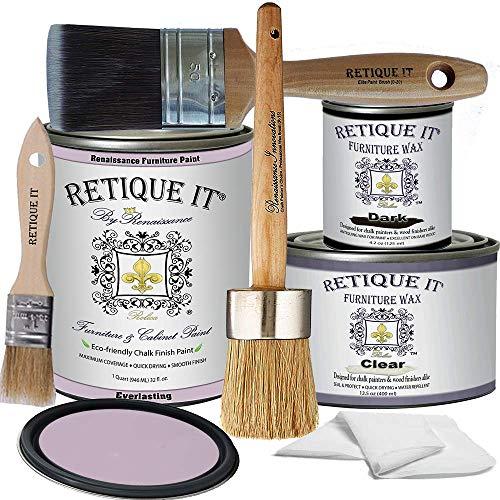 Retique It Chalk Furniture Paint by Renaissance DIY, Wax Kit, 31 Everlasting