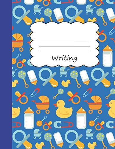 Writing: Primary Composition Book | Yellow Rubber Duck Themed Handwriting Practice Paper | Blue Notebook Cover | Dotted Dashed Midline Workbook for ... 2nd 3rd 4th 5th Grade Students (K-1, K-2 K-3)