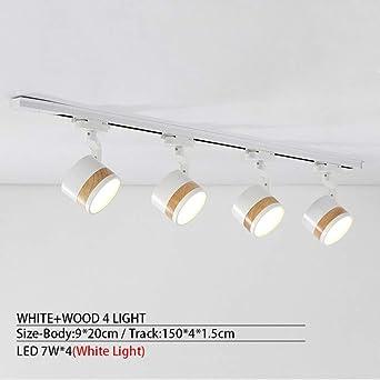 WSYYWD Lámpara de techo LED de 220V con riel para sala de estar ...