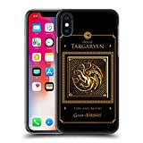 Official HBO Game Of Thrones Targaryen Border Golden Sigils Hard Back Case for Apple iPhone X