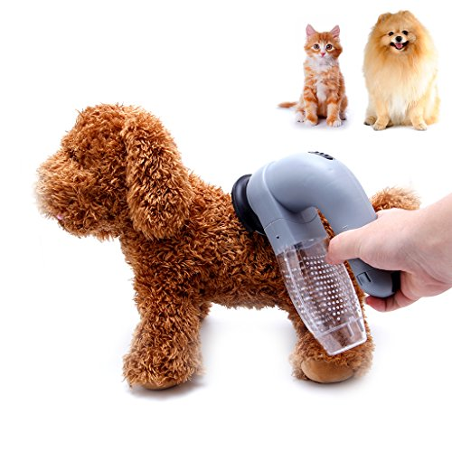 Fang Sky Cat Dog Pet Hair Fur Remover Shedding Grooming Brush Comb Vacuum Cleaner Trimmer (Hand Motor Held Massage)