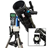 TwinStar Black 6'' iOptron Computer Controlled Reflector Telescope With Universal Smartphone Camera Adapter