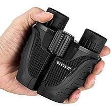 Deeteck 10x25 Folding Compact Binocular With BAK4 Wide Angle Waterproof Weak Light Night Vision Binoculars For Bird watching/Outdoor Activities/Climbing Suitable For Kids And Adults
