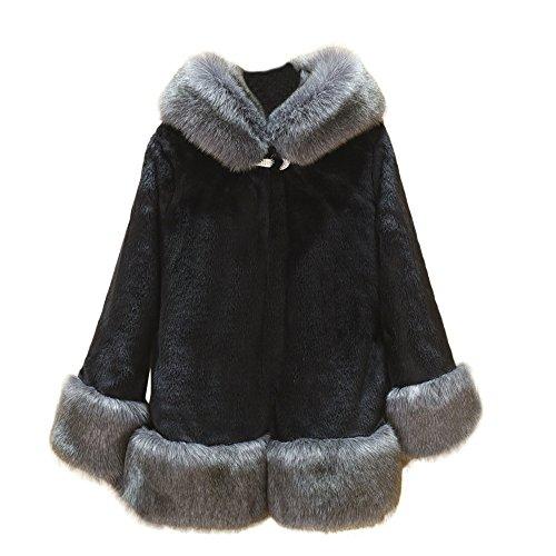 Shaggy Lined Hoody (Pengy Women's Warm Winter Coat Hood Parka Outwear Faux Fur Coat Outwear (Black, S))