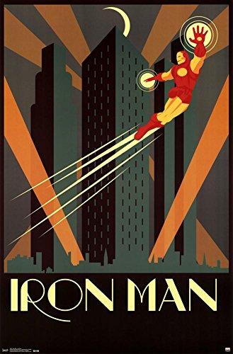 Iron Man Art Deco Poster