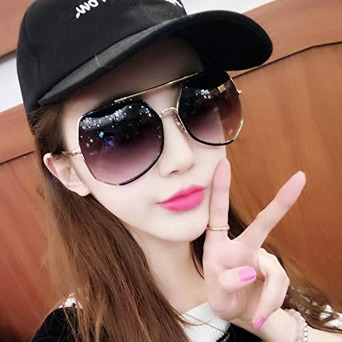Long Cadre personnalité Générique Soleil Couleur modèles Noir Sunglasses d'étoiles Grand Femmes marée polarisés Soleil Lunettes de Nouveau Noir Lunettes Rond de Visage Verres zOtqcO