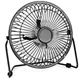 Trustech USB Table Fan, 6 Inch Mini Desk Use with 4.6ft Cable, Portable & Personal for Home & Office Quiet and Powerful, Cools You Down in Hot Summer, Medium, Brown