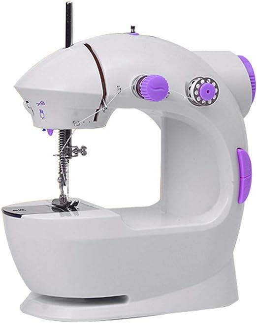 Mini máquina de coser Máquina de coser portátil Mini ajustable 2 ...
