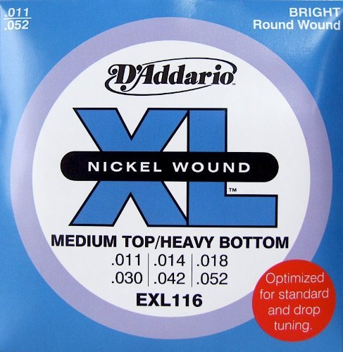 D'Addario EXL116 Nickel Wound Electric Guitar Strings, Mediu