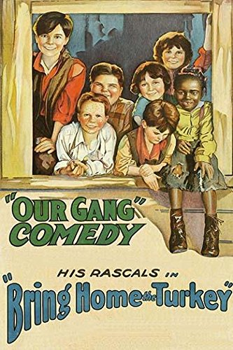 Our Gang Comedy - children gather in window Poster Print