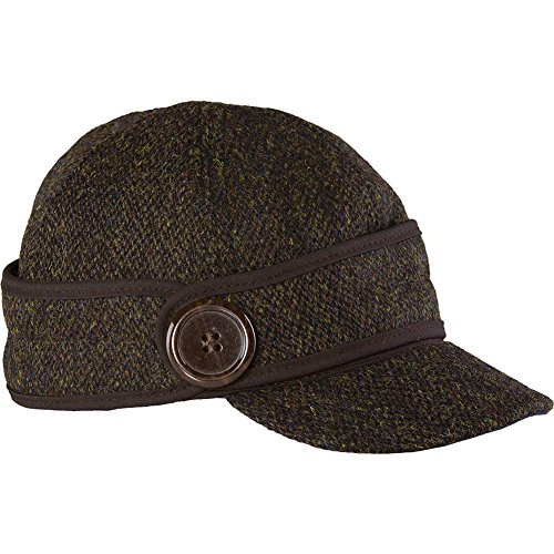 Stormy Kromer Wo Button Up Cap With Harris Tweed