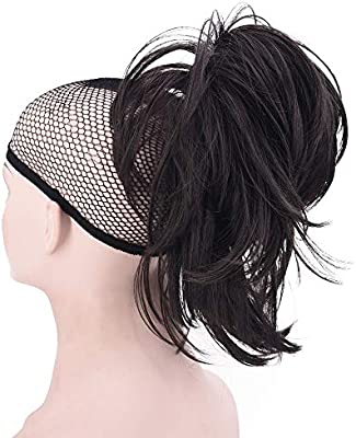 Xiangsen Adjustable Messy Ponytail Hair Extensions Short Curly Claw Ponytail Clip On Hair Ponytail Clip In Hair Extensions 4 Buy Online At Best Price In Uae Amazon Ae