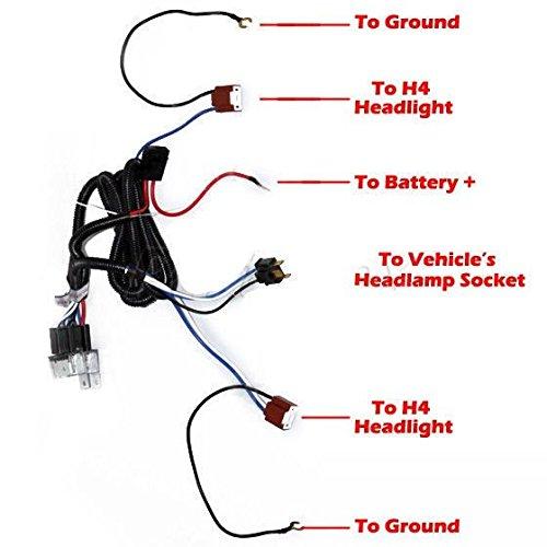 [all star truck parts] 2-headlight h4 headlamp light bulb ceramic socket  plugs