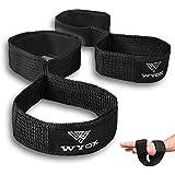 WYOX Figure 8 Weightlifting Straps - Heavy Duty Neoprene Wrist Lasso Straps - Trap Bar Deadlift Gym Grip Ideal for Men & Wome