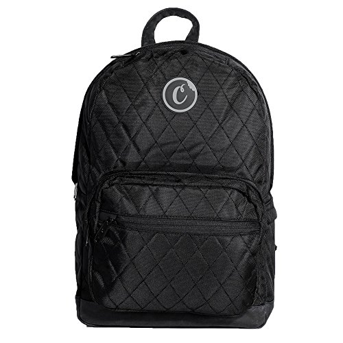 Cookies Men's V2 1680 Quilted Nylon Backpack Bag Black by Cookies