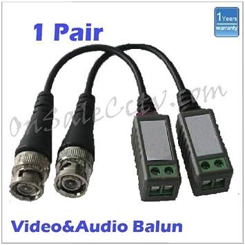 STARVIEW 1 pares BNC coaxial Balun Cable de audio más de transceptor de vídeo y alimentación