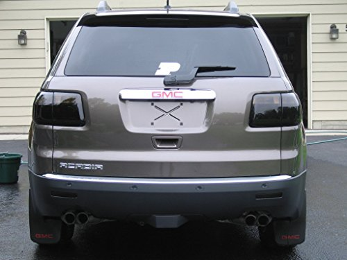GMC Acadia Tinted Tail Lights Smoked Film Lamp Overlay (Amber Tail Light Cap)