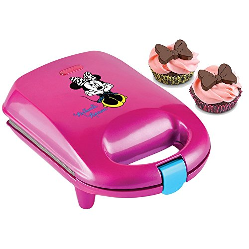 Minnie Mouse Cupcake Maker w/Liners, Cord Wrap, Non-Skid Feet & Locking Lid by Select Brands