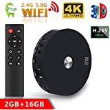 TV Box R10 2GB +16GB Dual WIFI bluetooth Android 7.1 TV Box, Streaming Media Player, bluetooth 4.1 Smart TV Box Support Dual Channel Wifi 2T2R Connected 3D 4K HDR Video Playing