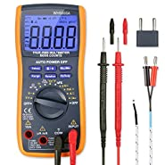 AstroAI Digital Multimeter, TRMS 6000 Counts Multimeters with Manual and Auto Ranging; Measures Voltage, Current, Resistance, Continuity, Capacitance, Frequency; Tests Diodes, Transistors, Temperature