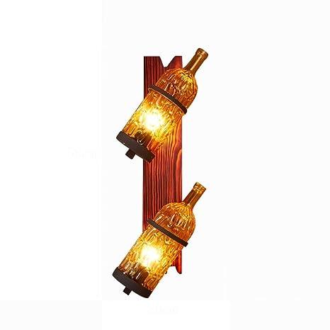 HAIZHEN Mejores deseos tienda Lampara de pared-Lámpara de Pared estilo Mediterráneo Botella de vidrio