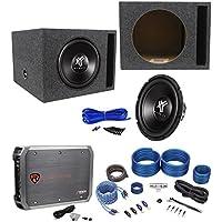 Hifonics HFX12D4 12 800w Car Subwoofer+Vented Sub Box+Mono Amplifier+Amp Kit
